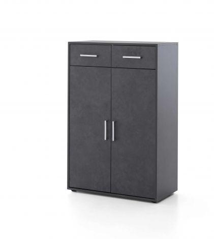 Kast Maxi-office 2 deuren & 2 laden - grafiet