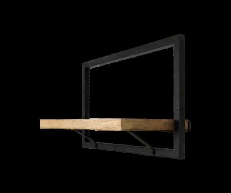 Wandplank Levels 51x32cm – mangohout/ijzer
