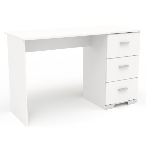 Bureau Galaxy - wit met 3 lades - 120cm breed