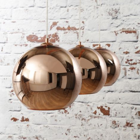 Hanglamp Globe - koper