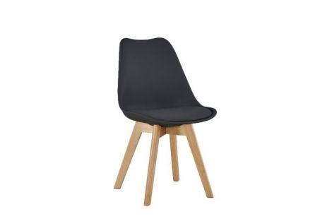 Set van 4 stoelen Malmo - zwart