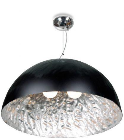 Hanglamp Moonface Ø70cm - zwart / zilver - 3x40w E27