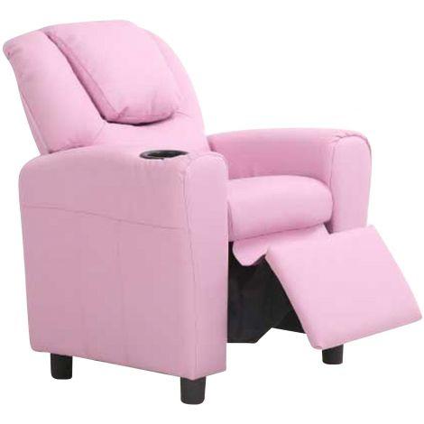 Relaxfauteuil voor kinderen Rex - roze