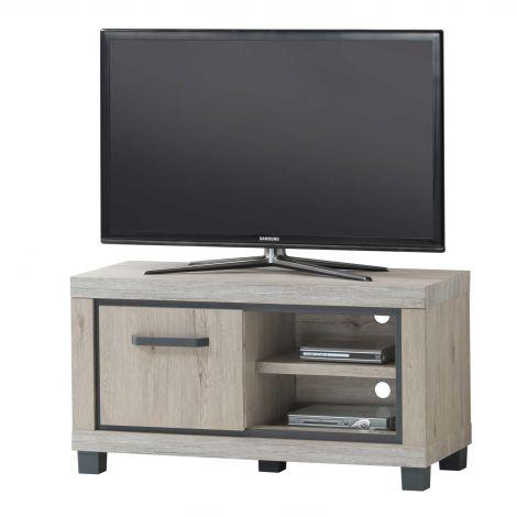 Tv-meubel Dirk 110cm met 1 deur - eik