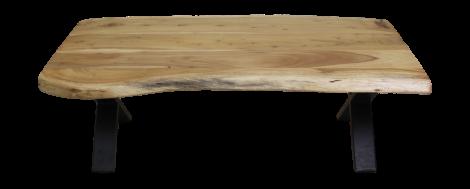 Salontafel SoHo - 120 cm - acacia / ijzer - powdercoated black