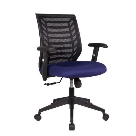 Bureaustoel Boss - blauw/zwart