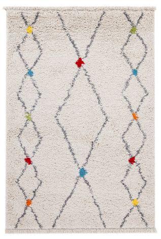 Vloerkleed Tribe D 120x60 Wit/multicolor
