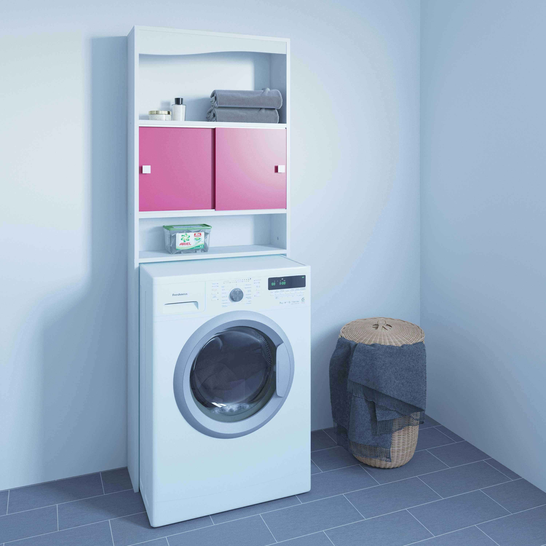 goedkope Toiletkast Wave roze Symbiosis Roze SY6090A2136A17