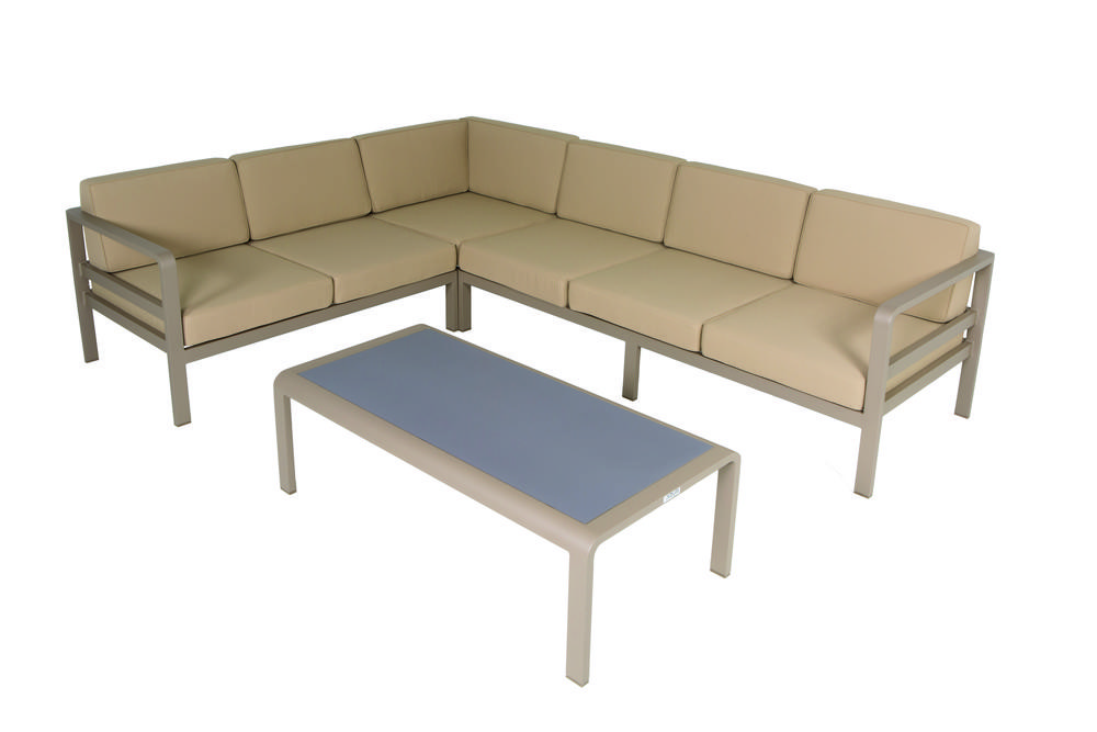 Modulaire loungeset Milton champagne