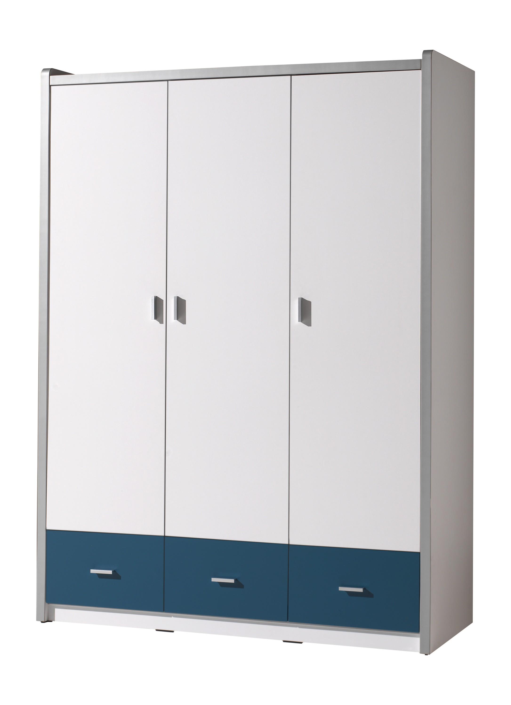 Vipack 3-deurs kledingkast Bonny blauw