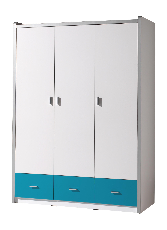 Vipack 3-deurs kledingkast Bonny turquoise