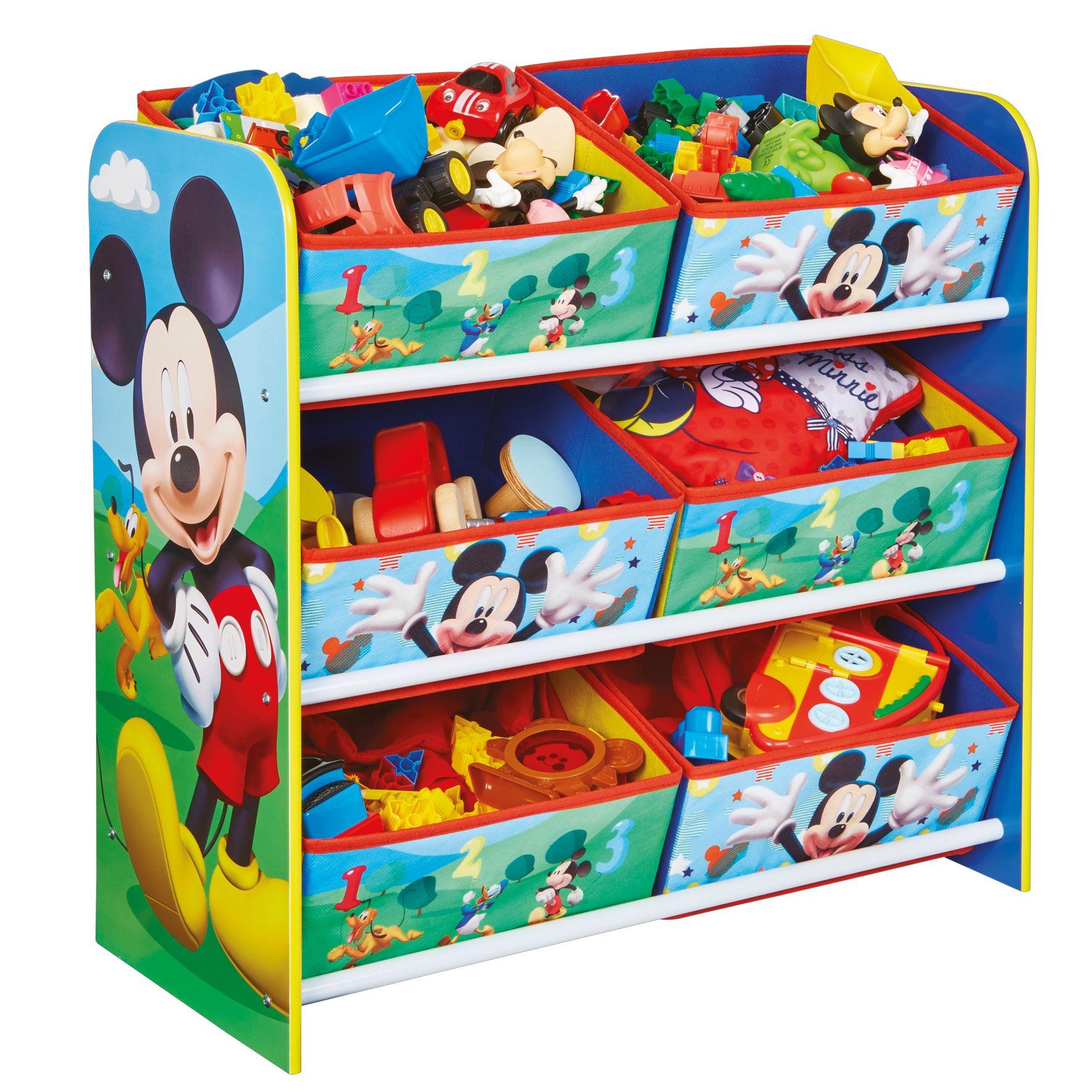 Opbergkast 6 Vakken Mickey Mouse: 60x23x51 Cm